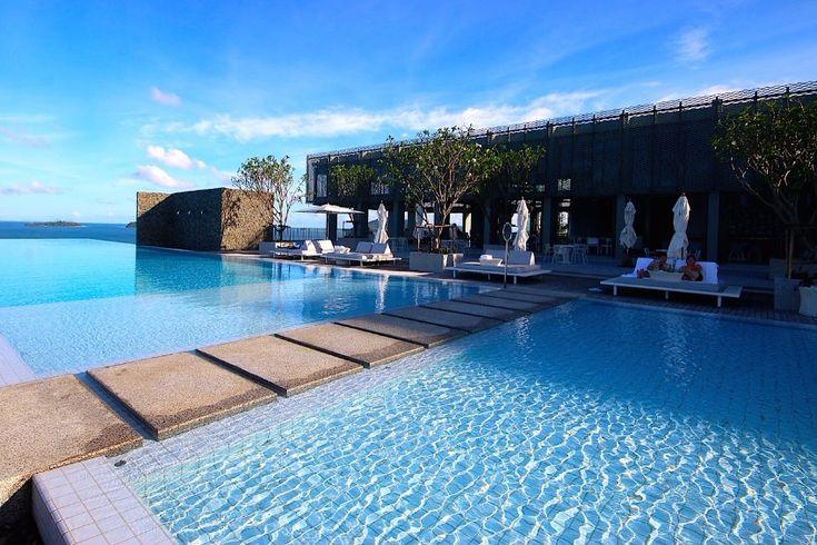 Blue lagoon in Phuket. /modern style, luxurious hotel, hospitality / #roomdesign #boutique #holidays / More: http://www.designcontract.eu/hospitality/holidays-breath-taking-phuket-best-places-stay/