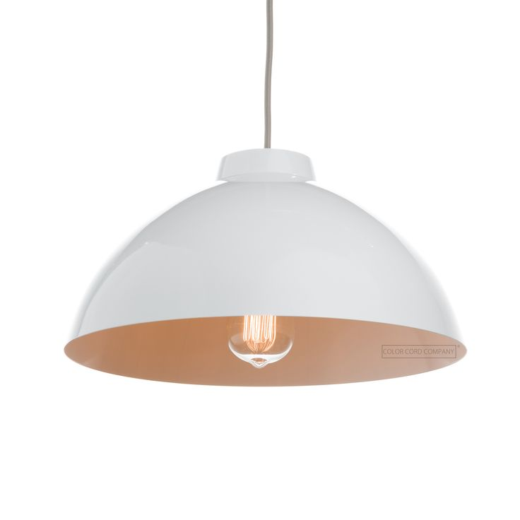 12 best pendant light shades metal images on pinterest light the metal dome shade is a classic yet contemporary and ever versatile metal lamp shade compatible with our pendant light cord sets mozeypictures Image collections