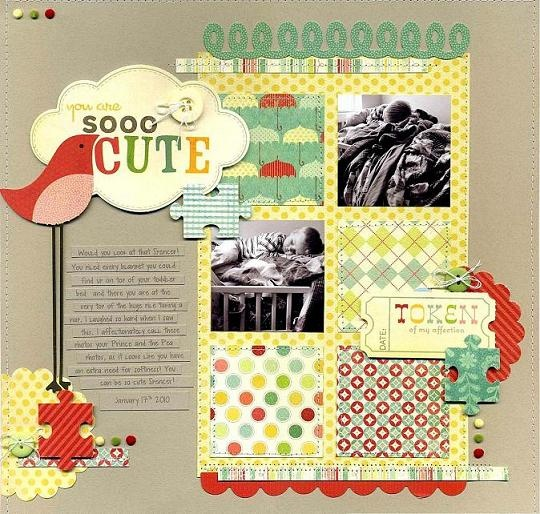 Soooo Cute scrapbook layout
