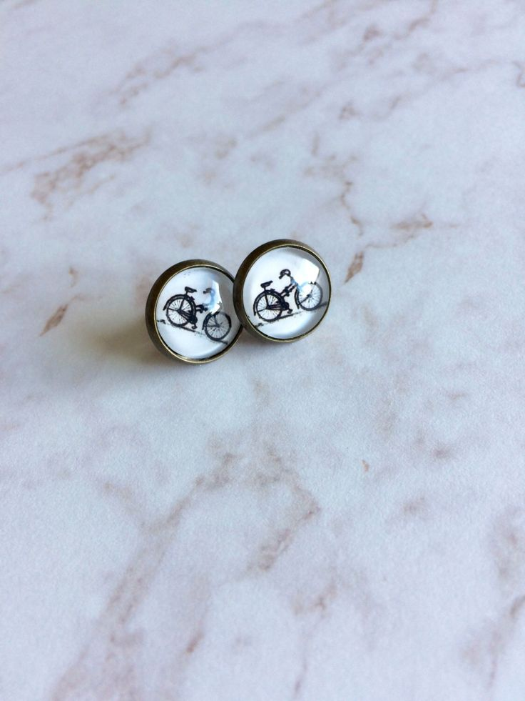 A personal favorite from my Etsy shop https://www.etsy.com/ca/listing/449732050/bicycle-post-earrings