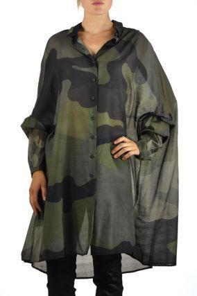 Rundholz Dip Camouflage Shirt/Dress in Black