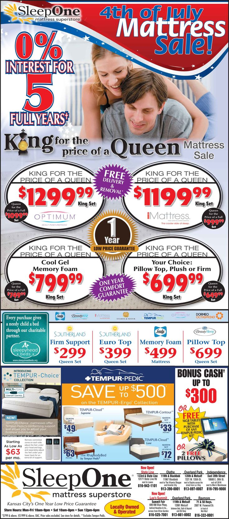 Sleepone Mattress Super Has Lowest Price In Kansas City Guaranteed Best Offers