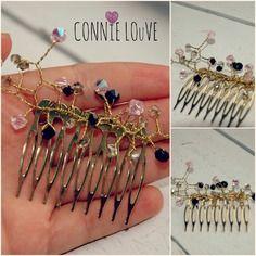 Petites fleurs goutes pour cheveux, peigne mariage, fleur rose, peigne mariée, accessoir cheveux, fleur cheveux,