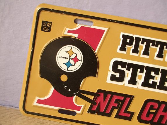 vintage Pittsburgh Steelers license plate 1970's by ShoponSherman, $22.00