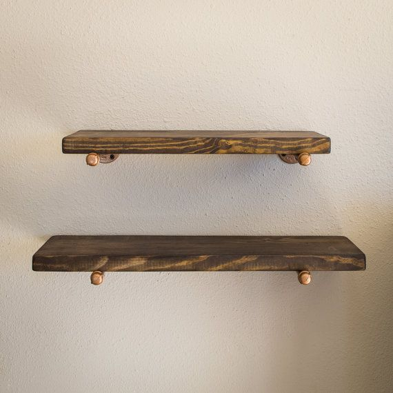 Industrial Floating Shelf Set  Floating Shelves  by IndustrialEnvy
