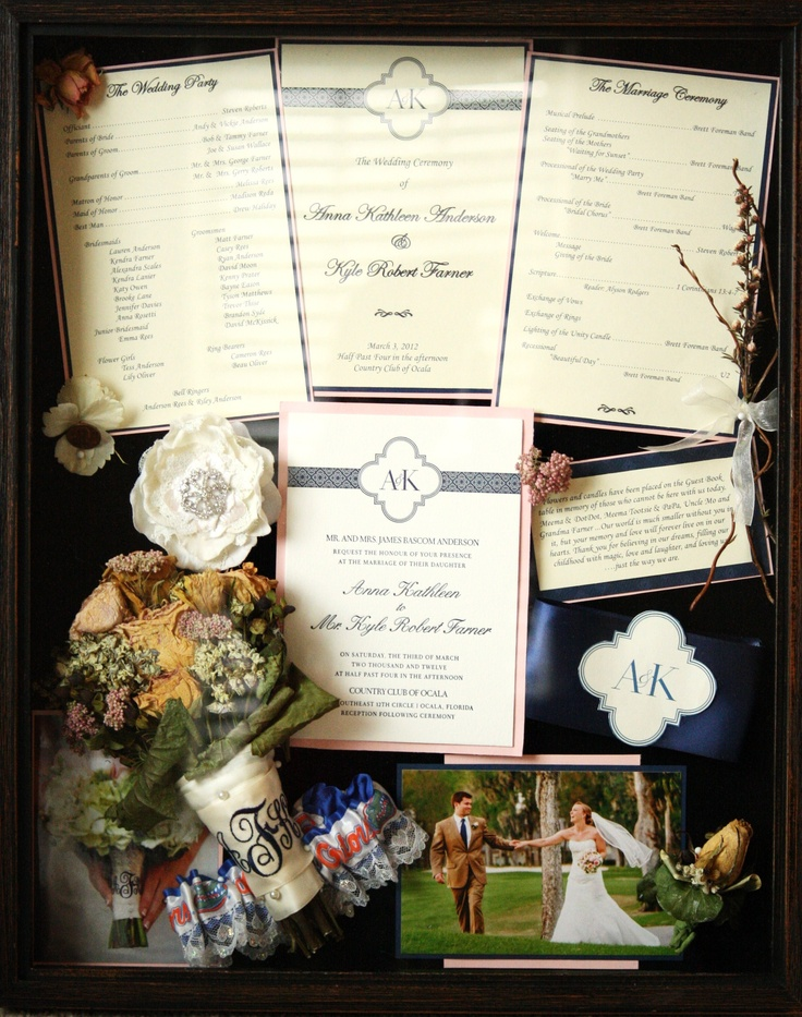 Wedding shadow box I want to do this!!