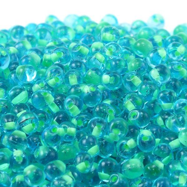 Miyuki Drop Beads 3.4mm - Mint Green Lined Blue - 10g for £1.25