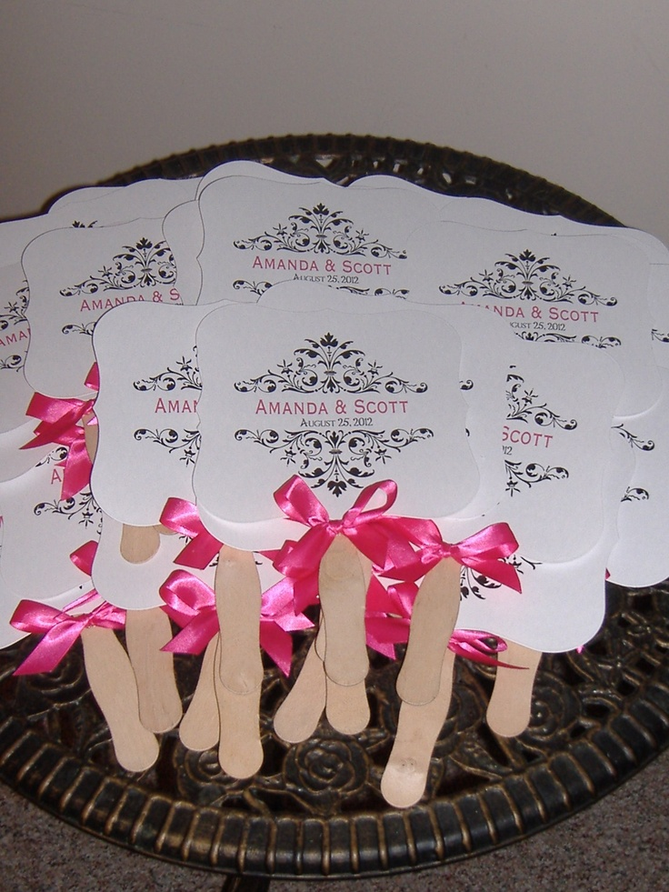 Wedding fans, probably going to need these for a july oudoor wedding(: