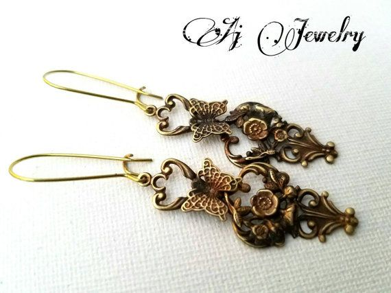Check out this item in my Etsy shop https://www.etsy.com/listing/493522957/butterfly-earrings