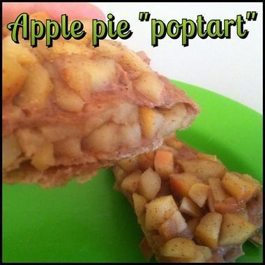 "Apple Pie ""Poptart"" Quick, easy, healthy snack or breakfast"