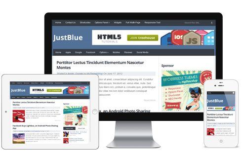 JustBlue A Free Premium Responsive Blog WordPress Theme