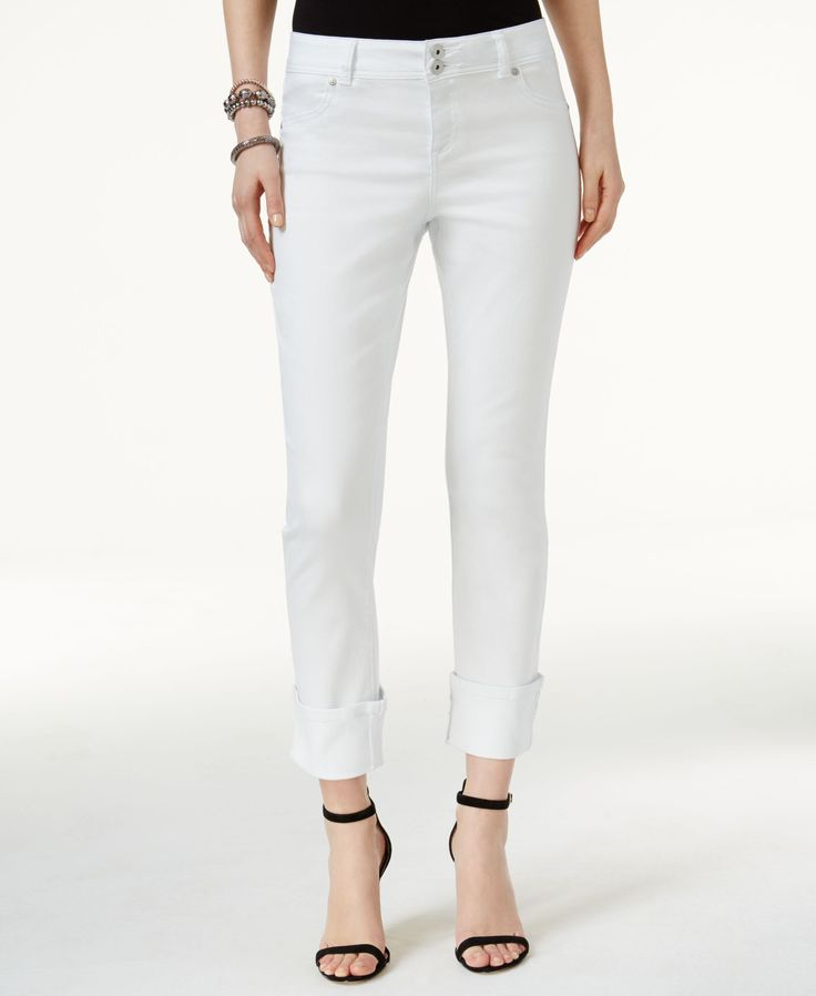 Inc International Concepts Cuffed Skinny Jeans, Only at Macy's