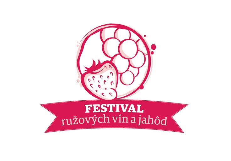 Logo for Rosé wines and strawberries festival