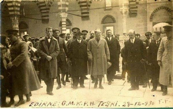 Edirne Atatürk Selimiye Ziyaretinde , 1930