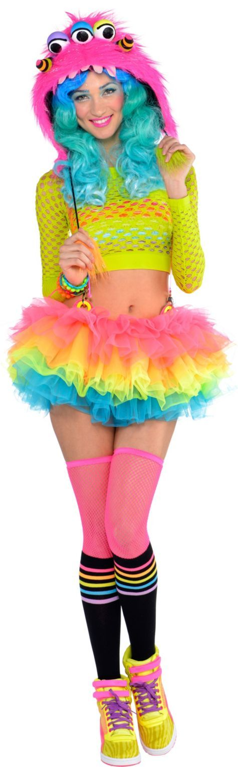 75(all except socks and thigh highs and wig)Adult Electric Party Raver Costume - Party City