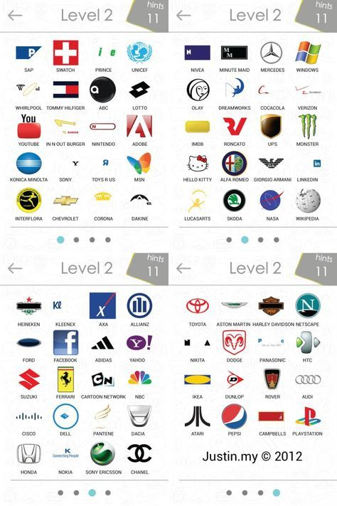 Logos Quiz Answers | Logo's, Spel, TreinV Logo Quiz