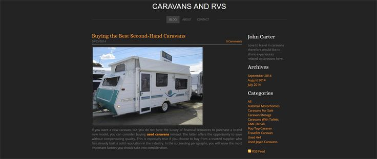 http://coffeepotgaming.weebly.com/blog/-buying-the-best-second-hand-caravans Used Caravans If you have are tight on budget, used caravans would be the best choice for your purchase.