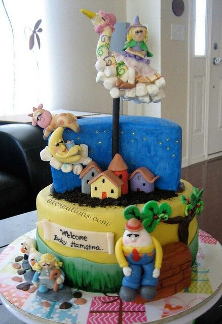Nursery Rhymes Tier Cake