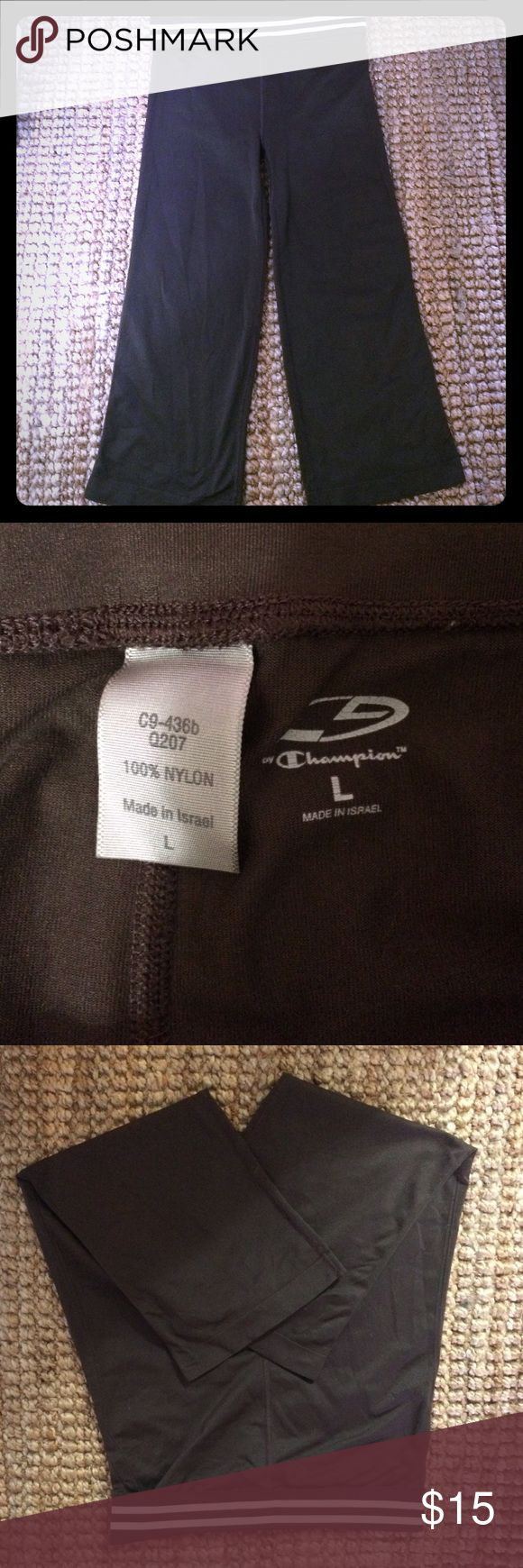 Champion jogger capris Brown jogger capris. Stretchy and comfortable for the gym. Size large Champion Pants Capris