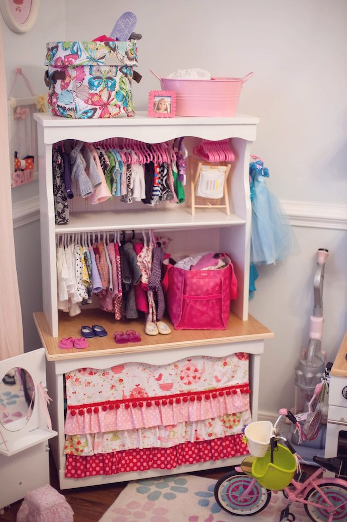 Doll Wardrobe from an American Girl Doll Themed Birthday Party via Kara's Party Ideas! KarasPartyIdeas.com (47)