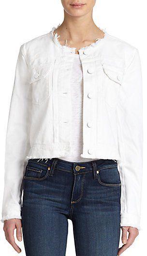 "Pin for Later: So gut sahen abgeschnittene Jeans noch nie aus  Paige ""Shannon"" Jeansjacke (ursprünglich 180 €, jetzt 106 €)"