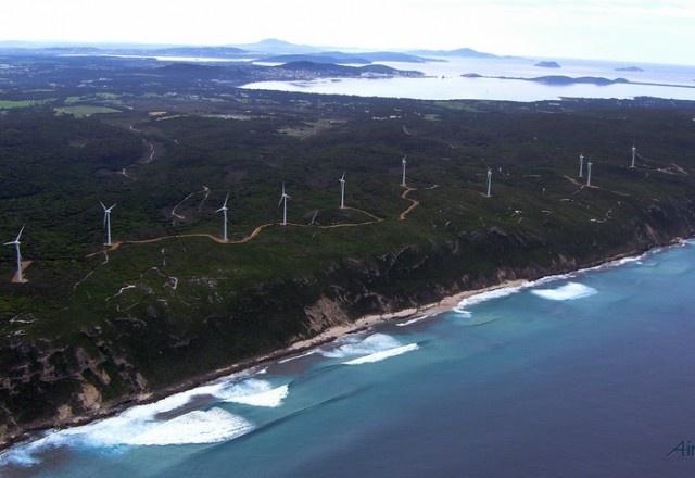 Albany Windfarm Aerial