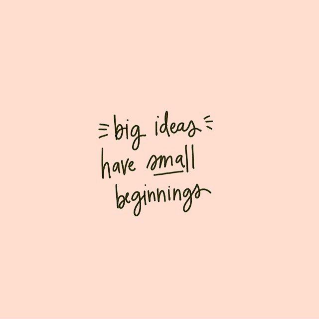Big ideas have small beginnings. Love this from @pacecreative in #fwportfolio