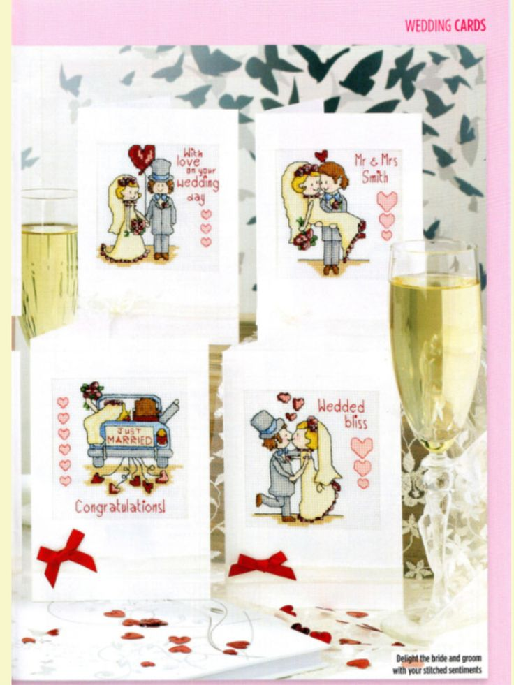 Bride & Groom 2/2 Cross Stitch Card Shop Issue 89 March/April 2013  Hardcopy in Folder