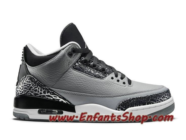 Air Jordan III (3) Retro Chaussures Jordan Basket Pas Cher Pour Homme Wolf  Grey
