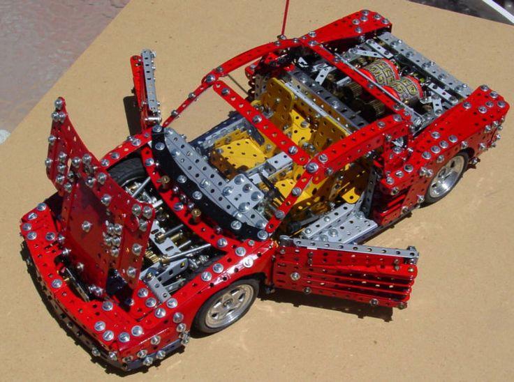 Meccano Ferrari Testarossa by Phillip J Edwards
