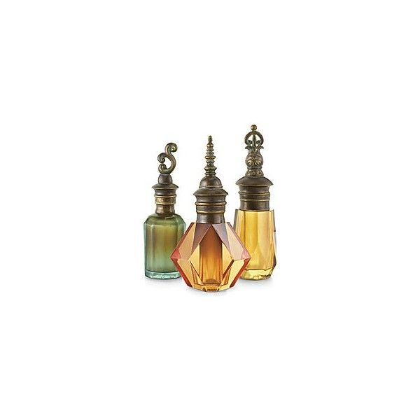 JCPenney : Set of 3 Colored Perfume Bottles-Closeout! ❤ liked on Polyvore featuring home, bed & bath, bath, bath accessories, fillers, decor, bottles, perfume, backgrounds and colored bottles