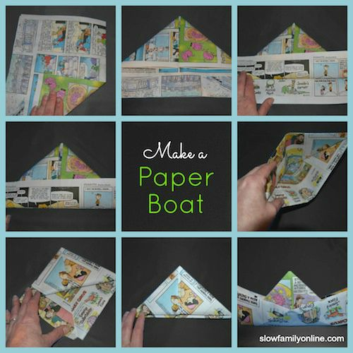 "My family loves this activity - Paper Boat Tutorial to make and sail a paper boat from ""Curious George Rides a Bike""."