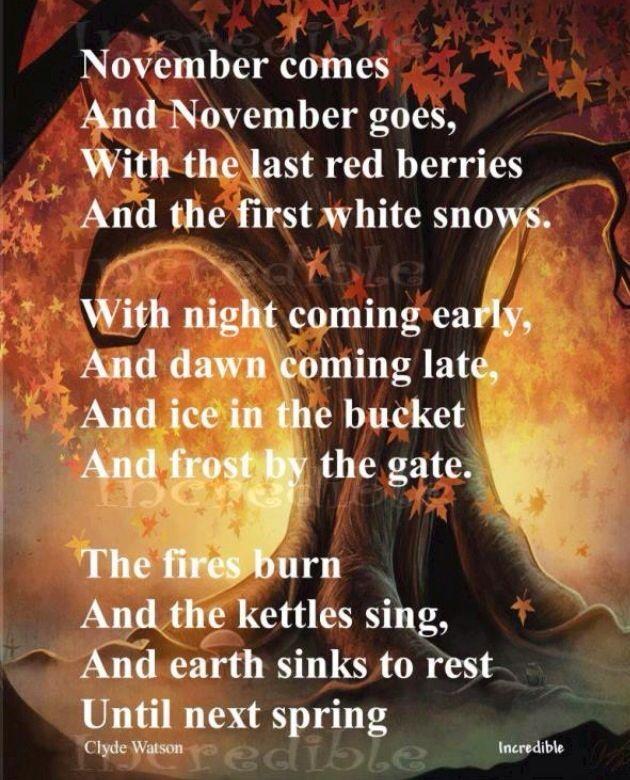Fall.. November.. Beautiful quotes | Love It !!! | Pinterest