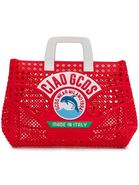 Shop Gcds perforated Ciao tote bag