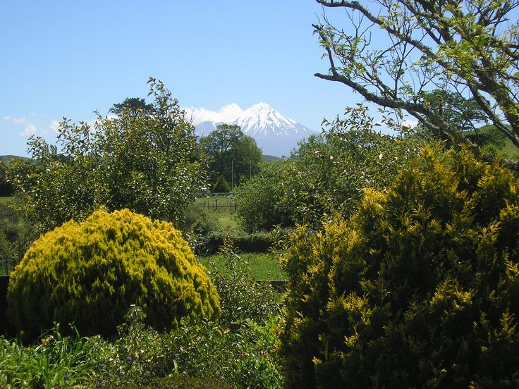 Mount Egmont from Toko, near Stratford in Taranaki.