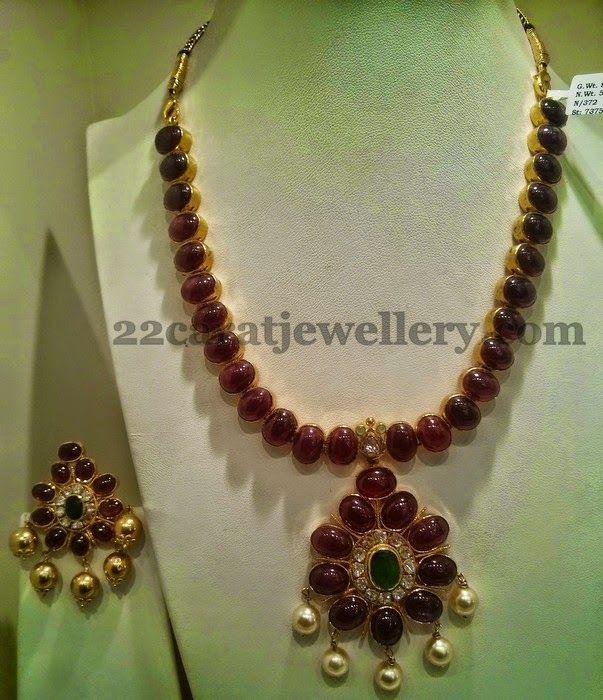Jewellery Designs: Ruby Long Haar 93 Grams