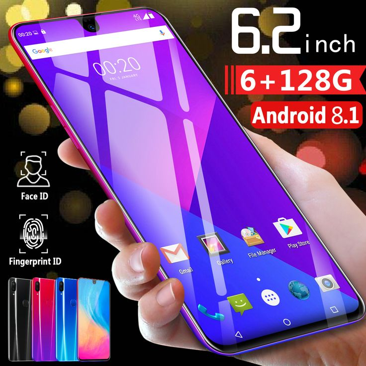 X23 6.2 Inch Smart Cellphone unlocked Mobile android 8.1 8 core HD cameras dual sim card dual standby 3g net smartphone