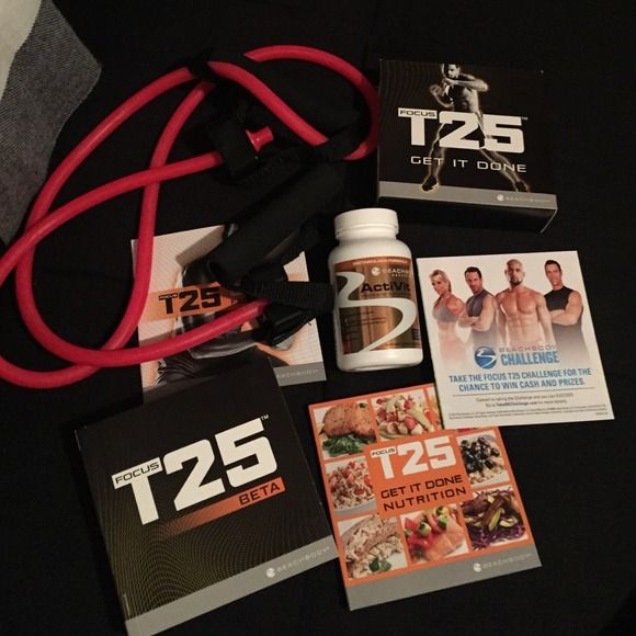 focus t-25 beach body work out set comes with everything! workout Other