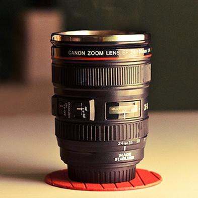 Taza termo de Cámara Canon 24-105mm Lens cup Coffee Mug with Lid / Gift Bag DC58