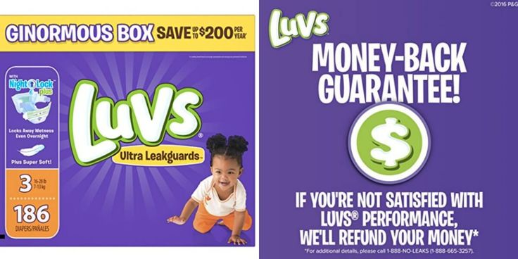 12-31-17 Amazon: Luvs Diapers (Sizes 1-5) As low as 7¢/Diaper $16.99/BoxLiving Rich With Coupons®