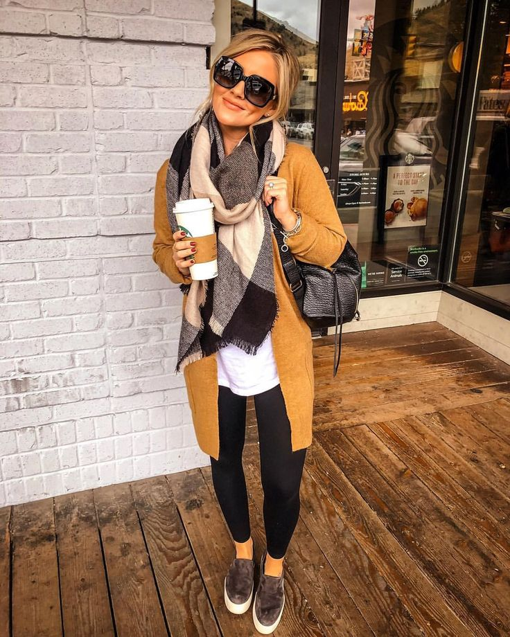 """Amanda West on Instagram: """"Adjusting to a different time zone requires a Venti ☕️? My cardigan and $22 scarf are from the same retailer and both sooo warm and cozy!…"""""""