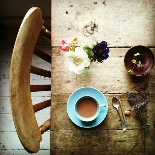 Tea & Sitting. Via Wit & Delight.