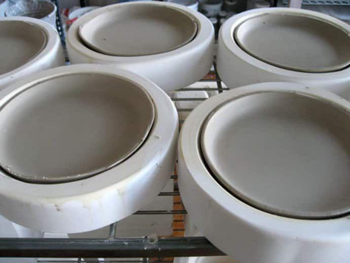 The Making Of A Hand Cast Porcelain Plate Pottery Molds Ceramic Molds Slip Casting Ceramics