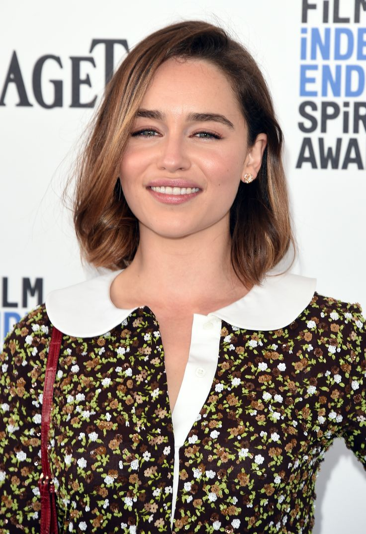 Emilia Clarke in Michael Kors at 2016 Film Independent Spirit Awards