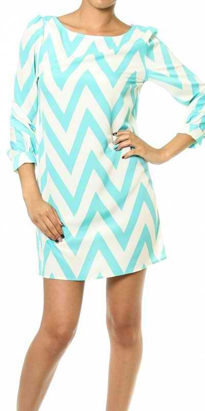 Mint Chevron Dress Small by PrepCarolinaBoutique on Etsy--couldnt resist and had to order it!
