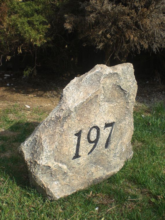 """Small Size 18"""" x 18"""" x 9"""" - Artificial Address Stone - any color, text and…"""