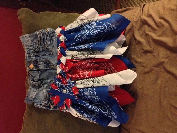 4th of July bandana skirt.