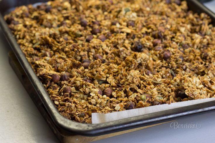 Recept na domácu müsli tyčinku tu už mám a tentokrát ešte recept na domácu granolu. Je to jedno z najzdravších jedál na raňajky, olovrant, desiatu, vlastne kedykoľvek, keď treba dodať telu energiu. Nie je to ťažké, pre zamestnané maminky vlastne celkom relax recept. Zároveň dobre padne vedieť, čo granola obsahuje a urobiť si ju podľa svojej fantázie.