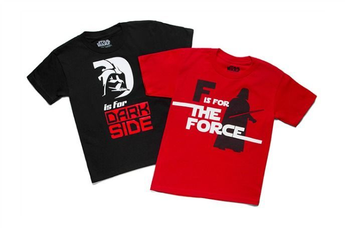 D is for The Dark Side Star Wars t-shirts for kids