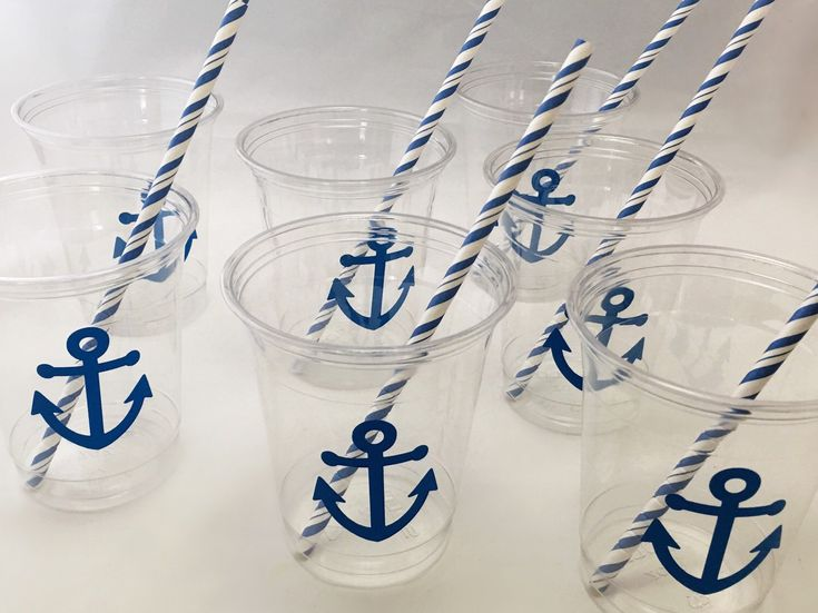 Nautical Party Cups - Nautical Wedding - Anchor Cups - Nautical Baby Shower - Beach Wedding - Engagement Party - Pirate Theme Birthday Cups by SteshaParty on Etsy https://www.etsy.com/listing/239442372/nautical-party-cups-nautical-wedding